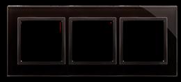 Ramka 3- krotna szklana zastygła lawa-251506