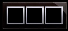 Ramka 3- krotna szklana księżycowa lawa-251507