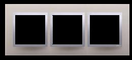 Ramka 3- krotna metalowa satynowy blask-251513