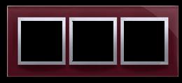 Ramka 3- krotna szklana kusząca śliwka-251497