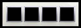 Ramka 4- krotna szklana srebrna mgła-251525