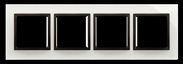 Ramka 4- krotna szklana burzowa chmura-251526