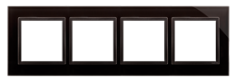 Ramka 4- krotna szklana zastygła lawa-251527