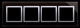 Ramka 4- krotna szklana księżycowa lawa-251528
