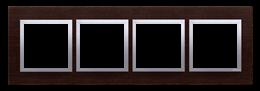 Ramka 4- krotna drewniana srebrne wenge-251539