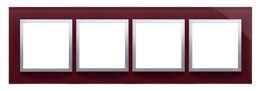 Ramka 4- krotna szklana kusząca śliwka-251524