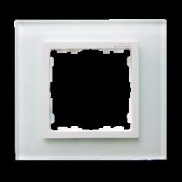 Ramka 1-krotna szklana biały / biała-250892