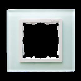 Ramka 1-krotna szklana naturalny / biała-250893