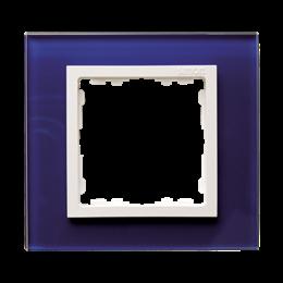 Ramka 1-krotna szklana morski / biała-250899
