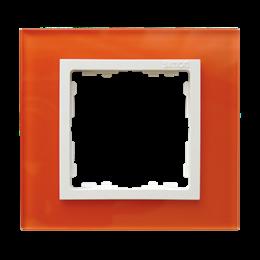 Ramka 1-krotna szklana mandarynka / biała-250898