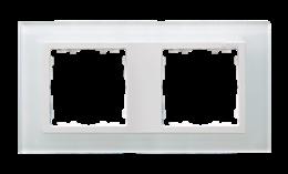 Ramka 2- krotna szklana biały / biała-250908
