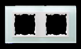 Ramka 2- krotna szklana naturalny / biała-250909