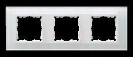Ramka 3- krotna szklana biały / biała-250924