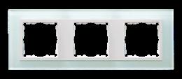 Ramka 3- krotna szklana naturalny / biała-250925