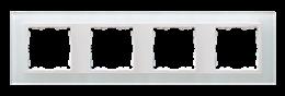 Ramka 4- krotna szklana biały / biała-250940