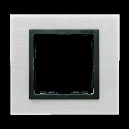Ramka 1- krotna metalowa inox mat / grafit-250903