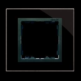 Ramka 1-krotna szklana czarna / grafit-250896