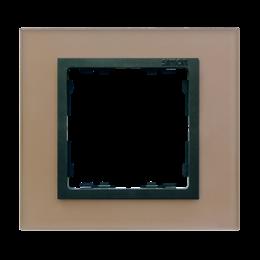Ramka 1-krotna szklana miedź / grafit-250897