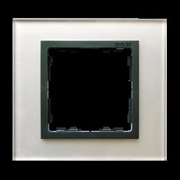 Ramka 1-krotna szklana szara / grafit-250895