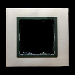 Ramka 1- krotna stal inox / grafit-250901