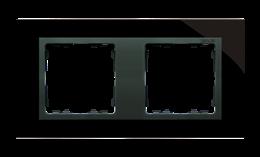 Ramka 2- krotna szklana czarna / grafit-250912