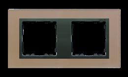 Ramka 2- krotna szklana miedź / grafit-250913