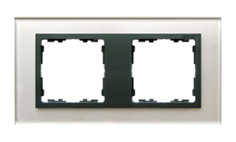 Ramka 2- krotna szklana szara / grafit-250911