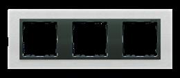 Ramka 3- krotna metalowa inox mat / grafit-250935