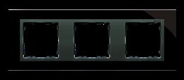 Ramka 3- krotna szklana czarna / grafit-250928