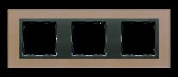 Ramka 3- krotna szklana miedź / grafit-250929