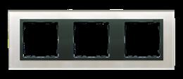Ramka 3- krotna szklana szara / grafit-250927