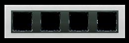 Ramka 4- krotna metalowa inox mat / grafit-250951