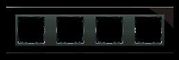 Ramka 4- krotna szklana czarna / grafit-250944