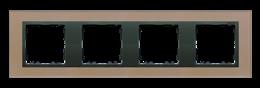 Ramka 4- krotna szklana miedź / grafit-250945