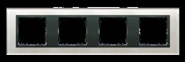 Ramka 4- krotna szklana szara / grafit-250943