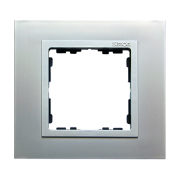 Ramka 1- krotna aluminium / aluminium mat-250905