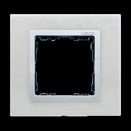 Ramka 1- krotna metalowa inox mat / aluminium-250902