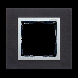 Ramka 1- krotna metalowa inox czarny / aluminium-250904