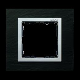 Ramka 1- krotna łupek / aluminium-250907
