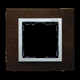 Ramka 1- krotna wenge / aluminium mat-250900