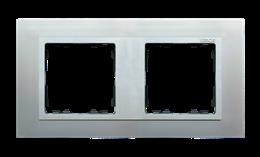 Ramka 2- krotna aluminium / aluminium mat-250921