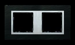 Ramka 2- krotna łupek / aluminium-250923