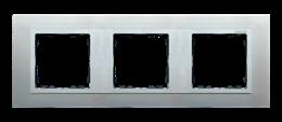 Ramka 3- krotna aluminium / aluminium mat-250937