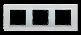 Ramka 3- krotna metalowa inox mat / aluminium-250934