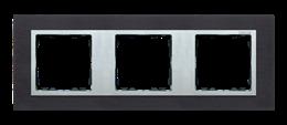 Ramka 3- krotna metalowa inox czarny / aluminium-250936