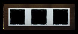 Ramka 3- krotna wenge / aluminium mat-250932