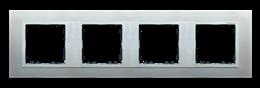 Ramka 4- krotna aluminium / aluminium mat-250953