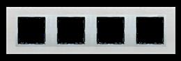 Ramka 4- krotna metalowa inox mat / aluminium-250950