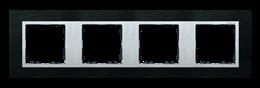 Ramka 4- krotna łupek / aluminium-250955