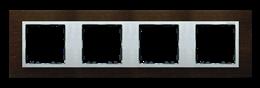 Ramka 4- krotna wenge / aluminium mat-250948